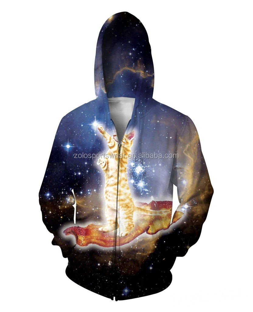 Custom made sublimation fleece hoodies for men
