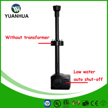 Low water auto shut-off pond pump with LED lights