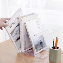 custom office acrylic desktop storage file/book stand