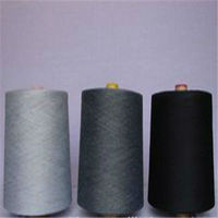 all kinds of colors spun polyester black yarn