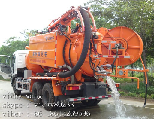howo brand 8.5m3 sewage tanker truck /combined suction type vehicle truck