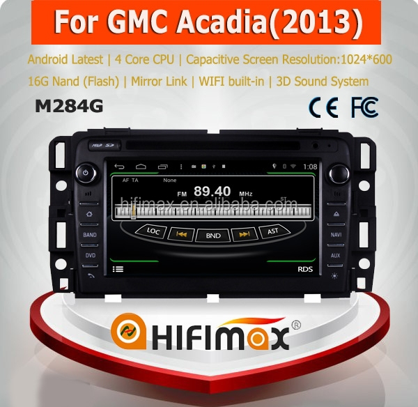 HIFIMAX Android 4.4.4 in dashboard Touch Screen Car Multimedia For GMC Acadia