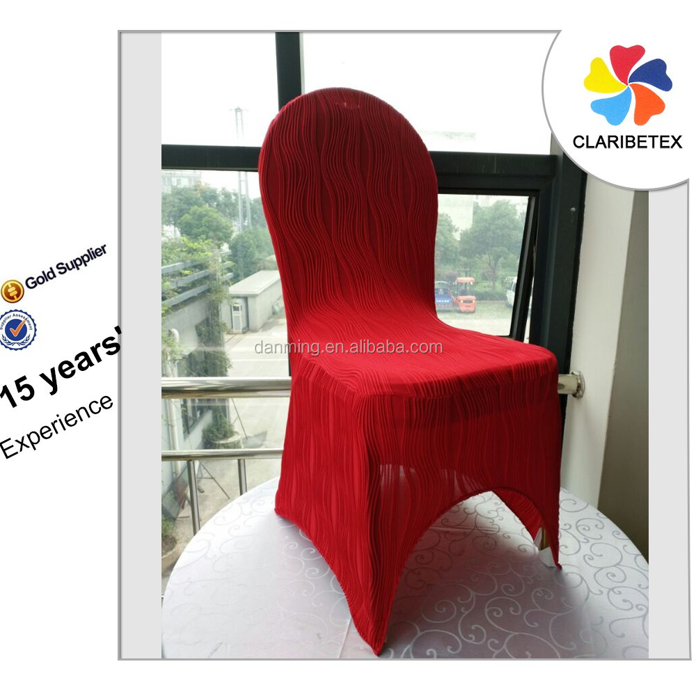 New Arrival Red Elastic Chair Cover for Wedding Banquet Restaurant