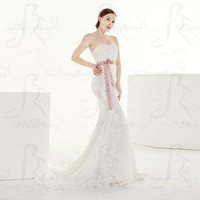 HX0021 ball gown sweetheart applique chapel trains organza for fat women wedding dress made in china
