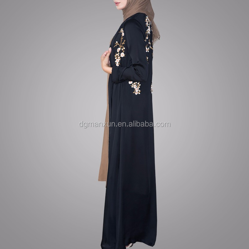 Pakistani Burqa Designs Latest Fashion Cardigan Embroidered Open Abaya Black Muslim Long Clothes For Ladies (4).jpg