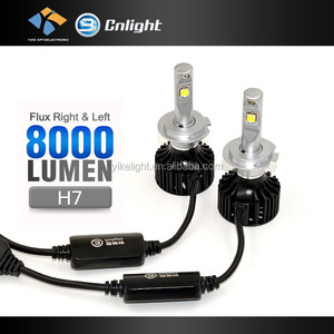 2016 New Super Bright8000LM H7 H8 H11 H13 H7 motorcycle led running lights manufacturer 12v headlights