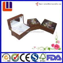 High quality piano lacquer Wood Jewelry Display Case and Storage Organizer Box