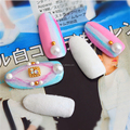 Japanese newest 3D sweet color velvet cotton candy for nail art decoration