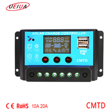 Best selling 10A 20a 24v smart solar charge controller solar system home/street light controller temperature compensation