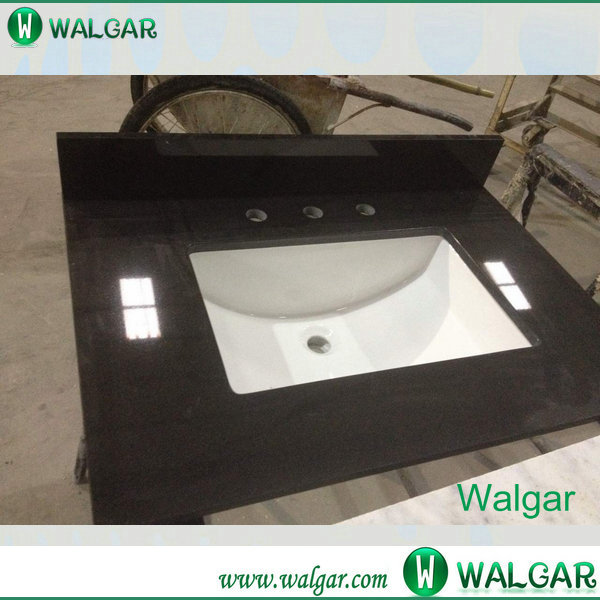 Hot sale and good quality Absolute Black Granite from China for Kitchen Countertop and Vanity Top