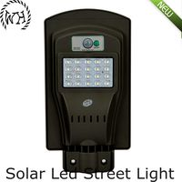 Portable integrated LED solar street light with high capacity lithium battery all in one