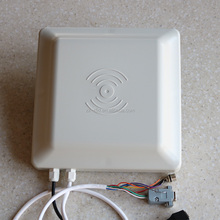 long distance UHF rfid reader integrated 8 dbi antenna for car access control system