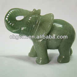 wholesale 50mm carved green aventurine elephant