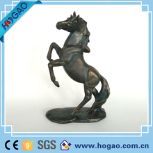 Resin Quanzhou bronze color horse animal figurine for office hotel decor