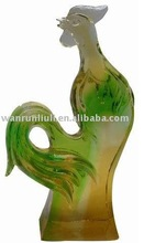 BJ057 fengshui promotional abstract crystal art sculpture rooster