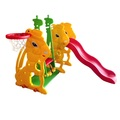 Plastic durable cheap children outdoor baby garden swing set