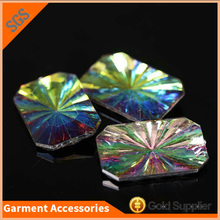New Fashion Design Flower Acrylic Stones Point Back Acrylic Rhinestone For Dress