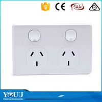 YOUU 2 Gang 2 Way Power Supply Wall Switch With Indicator Light For Home Automation