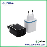 Colorful 1A and 2.1A usb travel adapter, business universal charger, usb universal travel adapter
