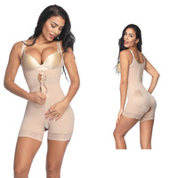 Skidproof Shapers With Hooks Zipper Custom Crotchless Womens Bodysuits