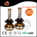 2017 New Product Factory Wholesale Price LED Car LED Headlight 30W 3900LM 9005 9006