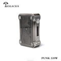 New trending vape box mod Teslacigs punk 220w vaporizer with high quality and cheap flights