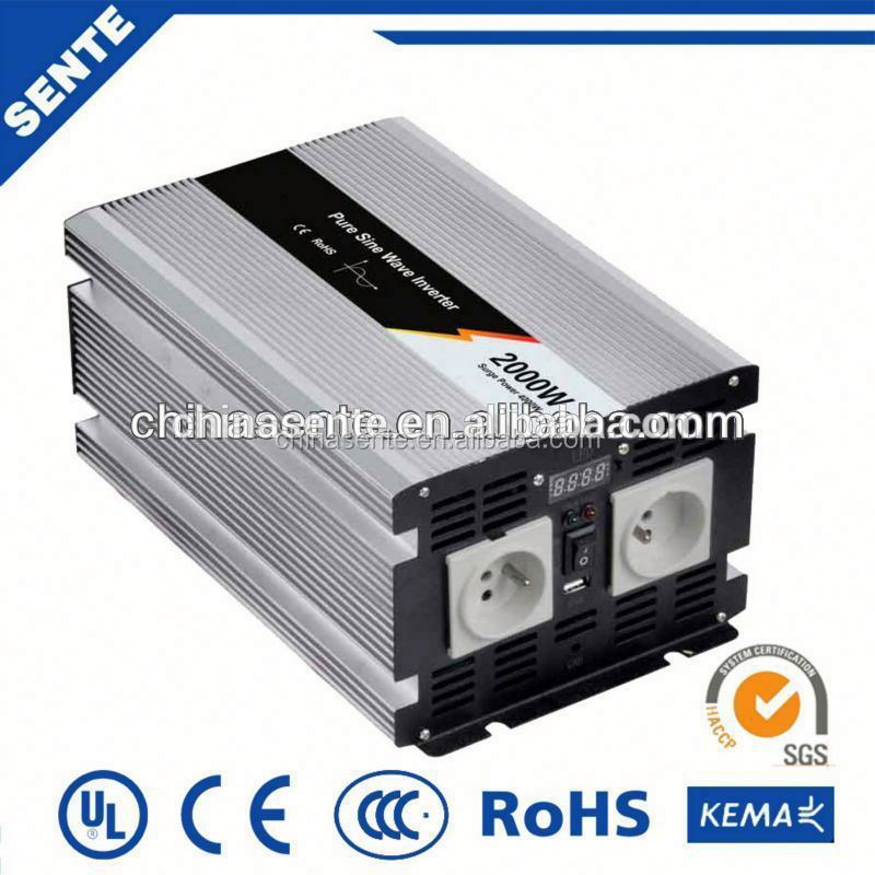 2000w 24vdc to 220vac pure sine wave inverter inverter circuit diagram with LED display screen