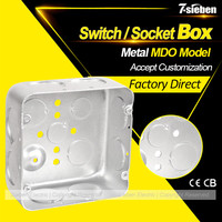 CE approved british standard steel switch and socket box