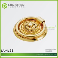 Unique Design Ring Handle Knob Gold For Wood Urns