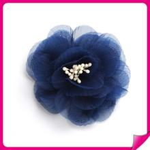 Sexy Ladies Top Fashion colorful 100% polyester rose flower craft wedding appliques or for packing