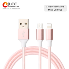 TPE Nickel Plated USB Cable 120cm Rose Gold Mobile Phone Cable For iPhone /Samsung Galaxy S3 S4