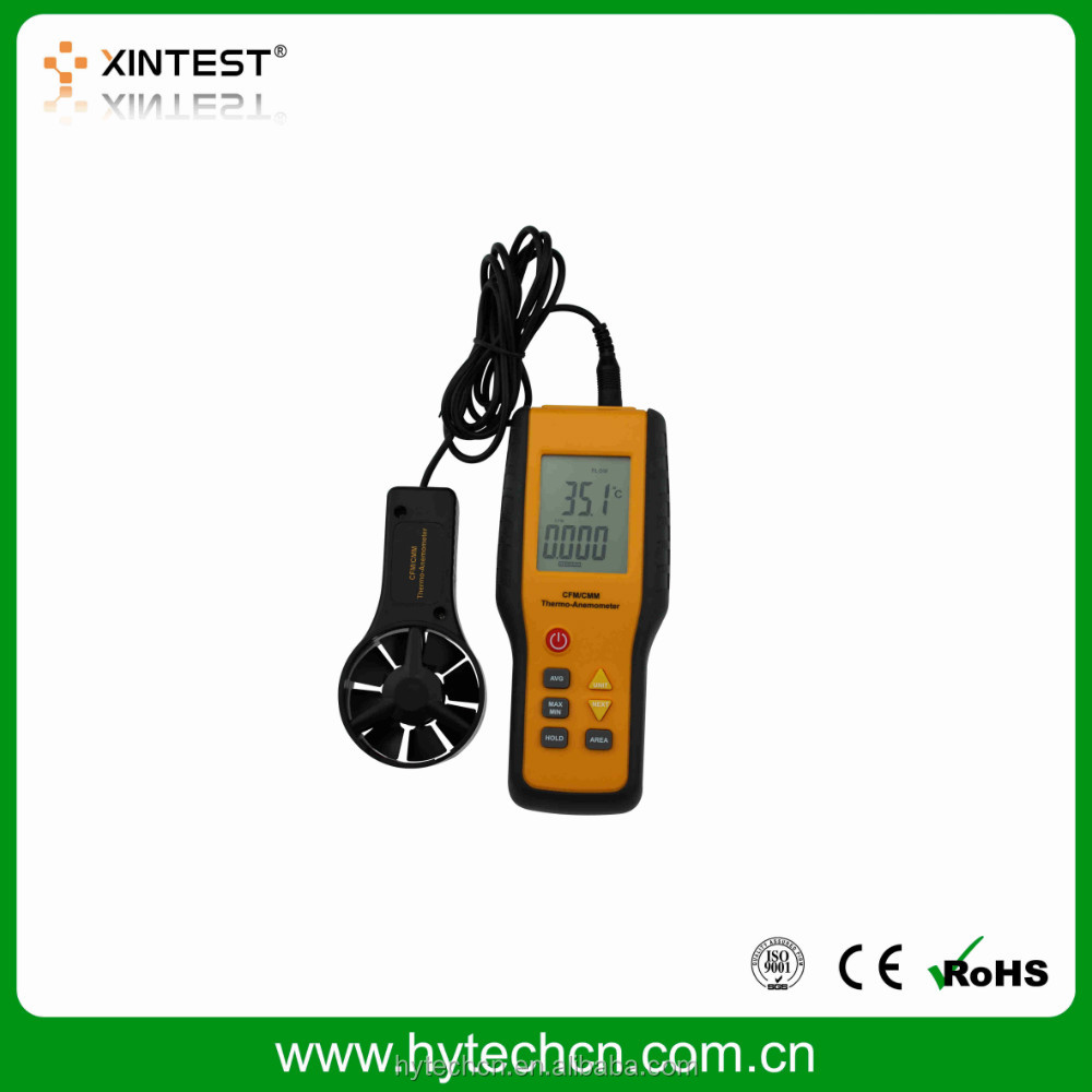 Hot sale High quality CFM/CMM Portable Industrial measuring instrument anemometer wind meter with good performance