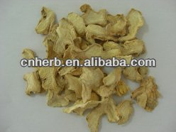 dried ginger slice for ginger tea and herbal tea