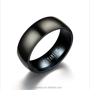 Wholesale Boys fashion rings Custom Jewelry Blanks Titanium Stainless Steel Rings For Men