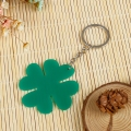Hot selling plastic Four-leaf grass keychain ring for wholesale