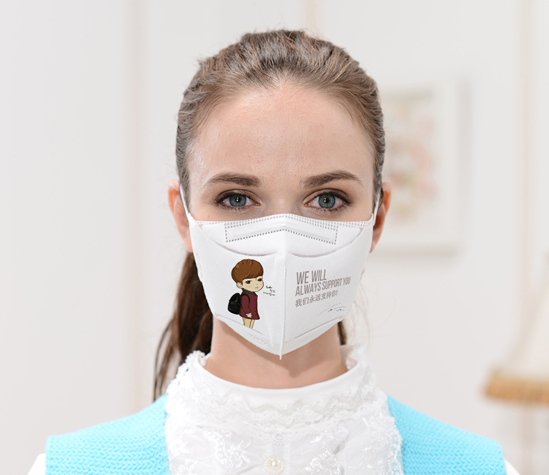 hot sale folded shape 3ply earloop face mask pm2.5 anti pollution dust mask