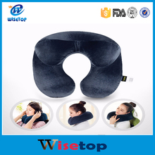 Wholesale Inflatable Travel Pillow for Sleep Very Comfortable Air Cushion Sleep Pillows Neck Pillow Travel Accessories Home Text