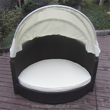 Canopy Rattan Bed For Dog