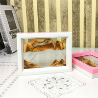 Moving sand art picture plastic frame for desktop home office decoration nice gift crafts