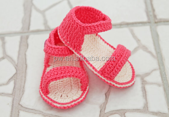 Hand Knitting Baby Girl Sandals Crochet Baby Shoes Baby Photography Props