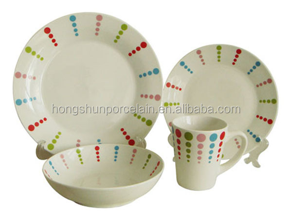 different type of table service , different kinds of dinnerware