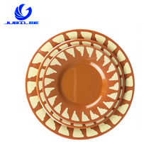 High Quality Factory Wholesale Cheap Custom Print Round Shape flat Hotel Restaurants 100% Melamine Dinner <strong>Plate</strong>