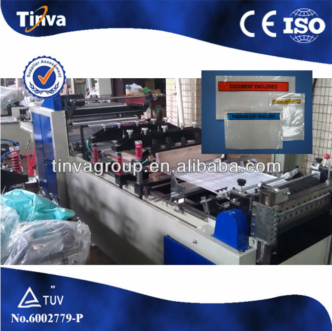 Hot sale Mailing Bag Packing List Enclosed Making Machine