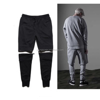SL103 Dark Ninja JOGGER BIKER sports pants zipper removable sweatpants