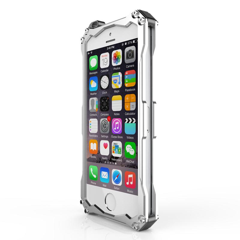 cool pack tempered glass metal aluminum back cover case for with high quality