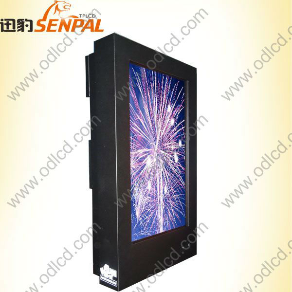 High brightness outdoor LCD monitor round lcd display