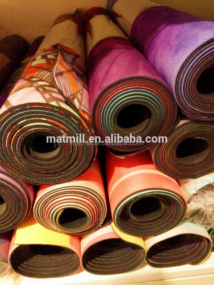 REACH Printed Natural Rubber Yoga Mat,4mm Thickness Yoga Mat