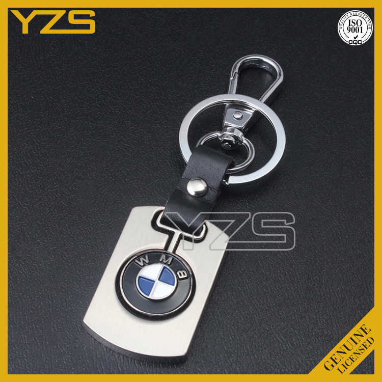 custom coin holder key chain with printed bmw car logo design