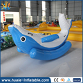 Inflatable dolphin seesaw inflatable water toy inflatable totter for water park