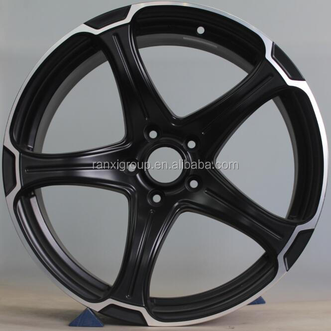 5 spokes car alloy wheel rim/racing aluminum rim pcd100-114.3